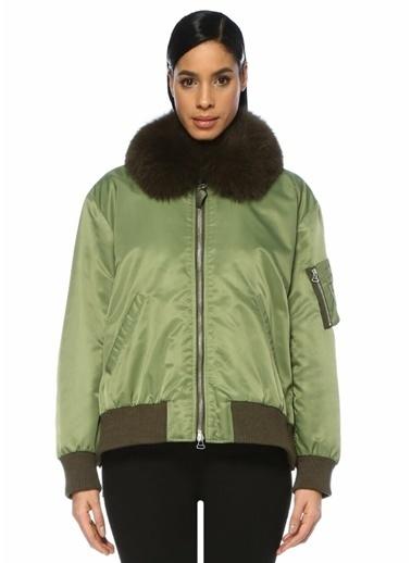 Yves Salomon Ceket Yeşil
